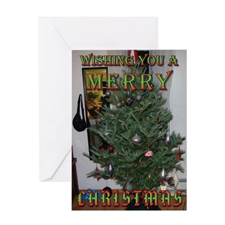 Christmas Tree in Oil Greeting Card