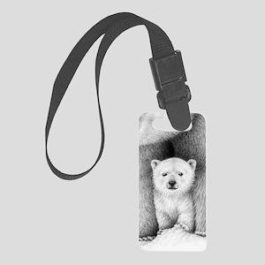 Polar Bear Cub Small Luggage Tag
