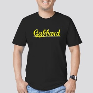 Gabbard, Yellow Men's Fitted T-Shirt (dark)