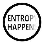 Entropy Happens Fade Round Car Magnet