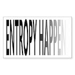 Entropy Happens Fade Sticker (Rectangle)