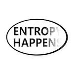 Entropy Happens Fade Oval Car Magnet