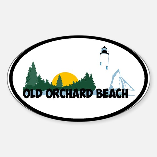 Old Orchard Beach ME - Beach Design. Decal