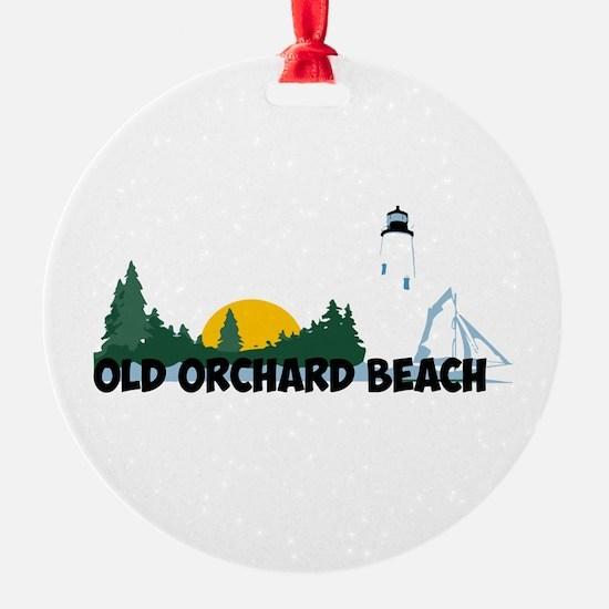 Old Orchard Beach ME - Beach Design. Ornament