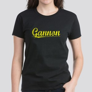 Gannon, Yellow Women's Dark T-Shirt