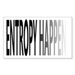 Entropy Happens Fade Sticker (Rectangle)