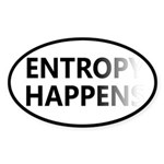 Entropy Happens Fade Sticker (Oval)