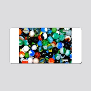 Marbles! Aluminum License Plate