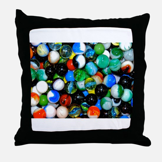 Marbles! Throw Pillow
