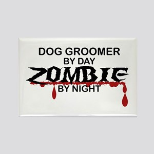 Dog Groomer Zombie Rectangle Magnet