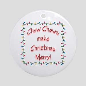 Chow Merry Ornament (Round)