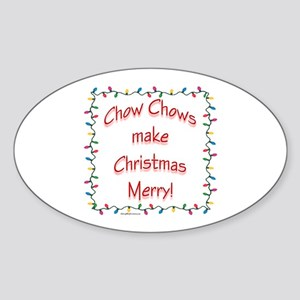 Chow Merry Oval Sticker