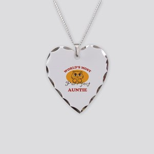 One Purrfect Auntie Necklace Heart Charm