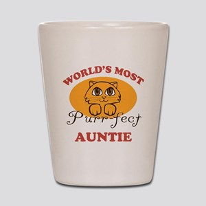 One Purrfect Auntie Shot Glass
