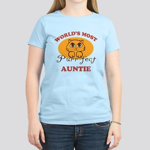 One Purrfect Auntie Women's Light T-Shirt