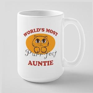 One Purrfect Auntie Large Mug