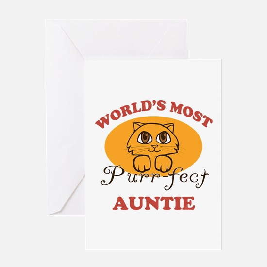 One Purrfect Auntie Greeting Card