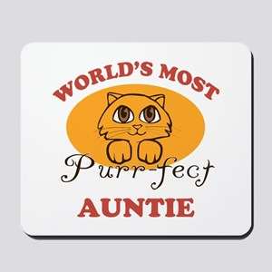 One Purrfect Auntie Mousepad