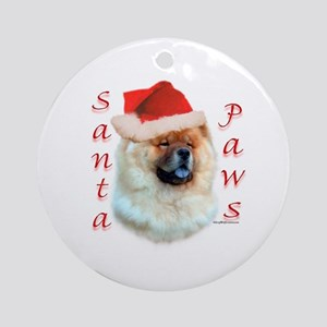 Chow Paws Ornament (Round)