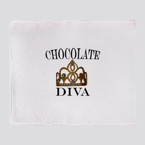 Chocolate Diva Throw Blanket