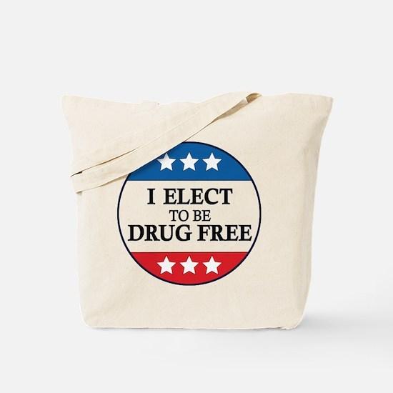 Drug Free Pin Tote Bag