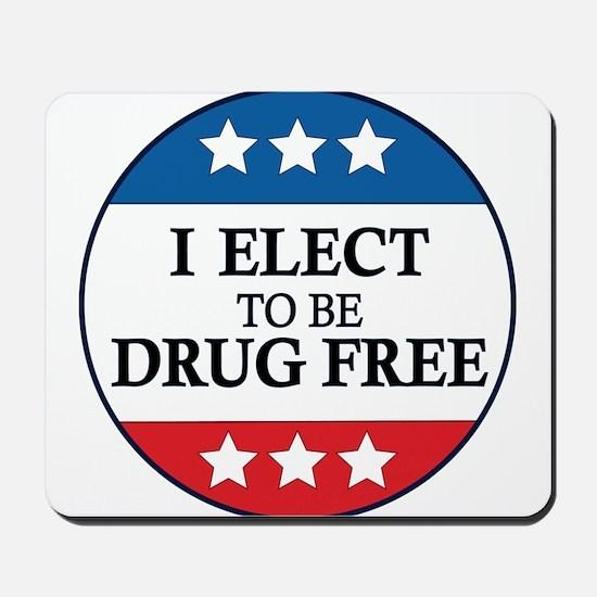 Drug Free Pin Mousepad