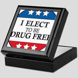 Drug Free Pin Keepsake Box