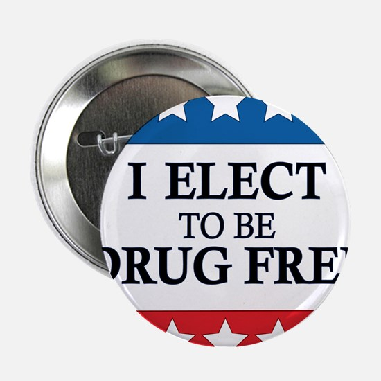 "Drug Free Pin 2.25"" Button"
