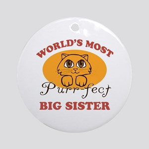 One Purrfect Big Sister Ornament (Round)