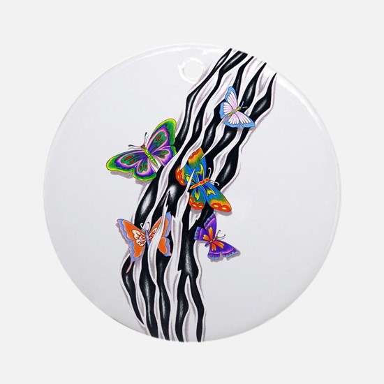 Butterflies Set Free Ornament (Round)