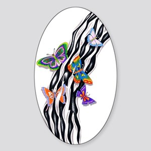 Butterflies Set Free Oval Sticker