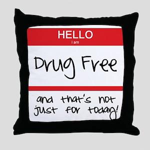 Drug Free Throw Pillow