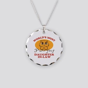 One Purrfect Daughter-In-Law Necklace Circle Charm