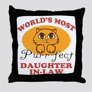 One Purrfect Daughter-In-Law Throw Pillow