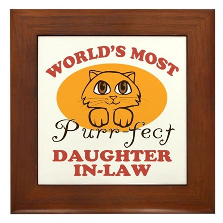 One Purrfect Daughter-In-Law Framed Tile