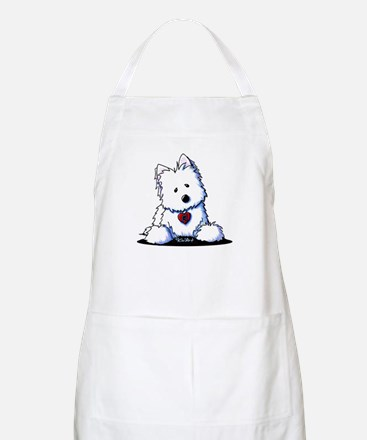 Westie Doorway To My Heart Apron