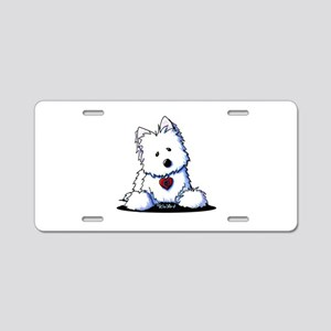 Westie Doorway To My Heart Aluminum License Plate