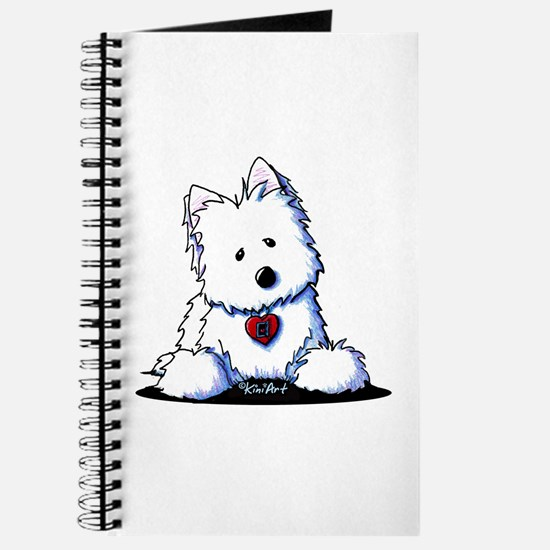 Westie Doorway To My Heart Journal