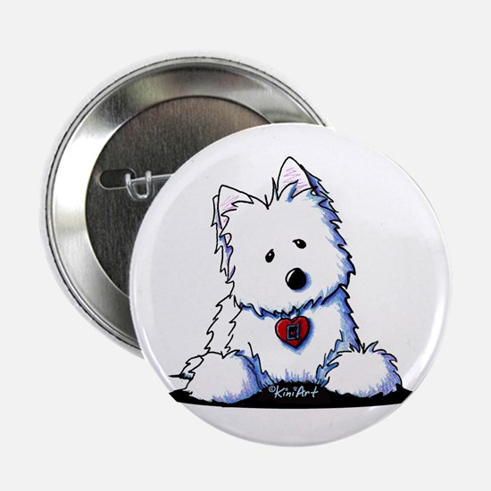 "Westie Doorway To My Heart 2.25"" Button"