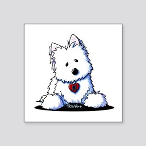 "Westie Doorway To My Heart Square Sticker 3"" x 3"""