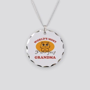 One Purrfect Grandma Necklace Circle Charm