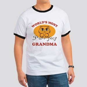 One Purrfect Grandma Ringer T