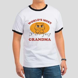 One Purrfect Grandma Ringer T