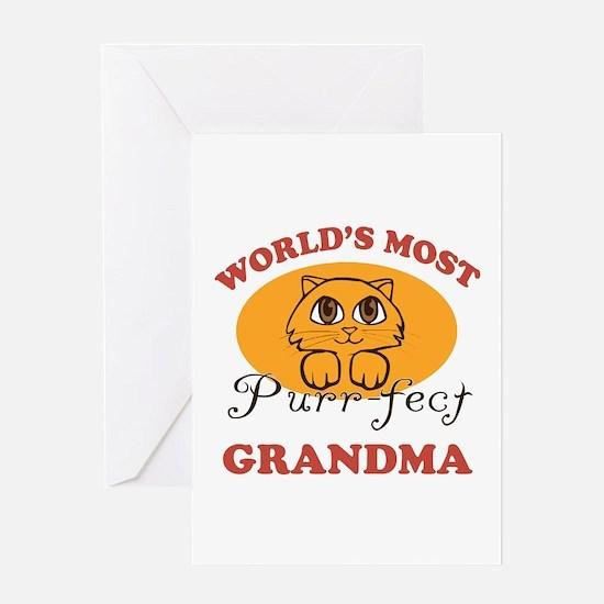 One Purrfect Grandma Greeting Card