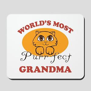 One Purrfect Grandma Mousepad