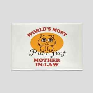One Purrfect Mother-In-Law Rectangle Magnet