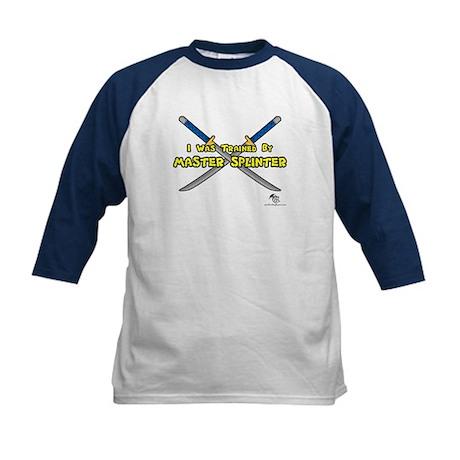 Trained By Master Splinter Kids Baseball Jersey