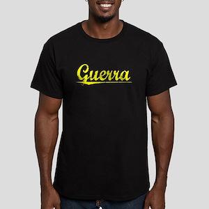 Guerra, Yellow Men's Fitted T-Shirt (dark)