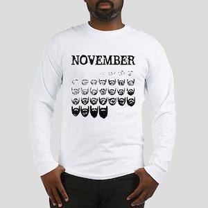 No shave november Long Sleeve T-Shirt