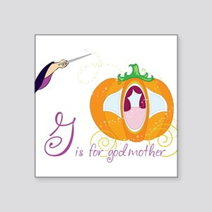 "Fairy Godmother Square Sticker 3"" x 3"""